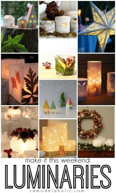 Easy Luminaries You Can Make in a Weekend @Remodelaholic #lights
