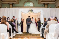 Ceremony in the Grand Ballroom with pipe & drape