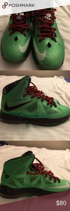 Nike LeBron James Jade Black Red sneakers size 12 Nike LeBron James China Jade, speckled Black & Red mid sole with Tourmaline base Men sneakers size US 12, LeBron James sports man of the Year 2017 (shoes have been worn have some slight scuffing) Nike Shoes Sneakers
