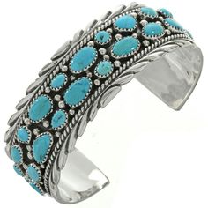 Sleeping Beauty Turquoise Cluster Cuff bracelet exhibits a dramatic display of southwest color! Packed with natural AZ stones, Sterling twist wire & drops. Turquoise Cuff, Turquoise Gemstone, Turquoise Jewelry, Turquoise Bracelet, Bohemian Bracelets, Handmade Bracelets, Cuff Bracelets, Thing 1, Sleeping Beauty Turquoise