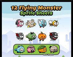 """Check out new work on my @Behance portfolio: """"12 Flying Monster Sprite Sheets"""" http://be.net/gallery/45586373/12-Flying-Monster-Sprite-Sheets"""