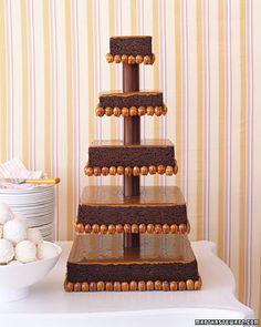 Brownie wedding cake recipe