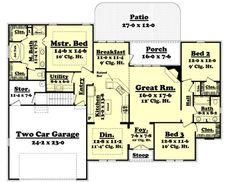 1900 Sq. Ft. House Plan [Essence (19-001-315)] from Planhouse - Home Plans, House Plans, Floor Plans, Design Plans