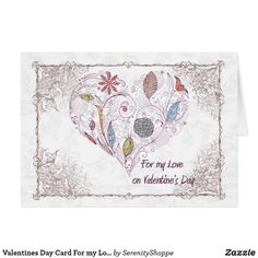 a6ce275858d69 Valentines Day Card For my Love Heart I Love Heart