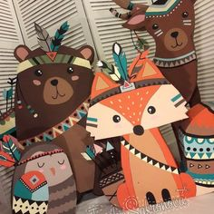 Baby Shower Decorations 647885096375902450 - 53 Ideas Baby Shower Decorations Woodland Theme Forest Animals Source by yamimimekky Idee Baby Shower, Tribal Baby Shower, Baby Boy Shower, Party Animals, Animal Party, Fox Party, Party Set, Baby Shower Decorations For Boys, Boy Baby Shower Themes