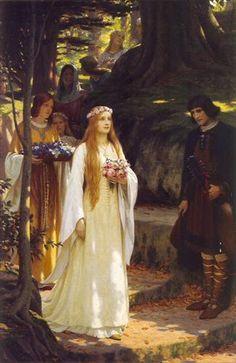 """My Fair Lady"", 1914, by Edmund Blair Leighton (English, 1852-1922)"