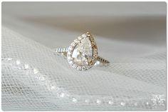 tear drop engagement ring