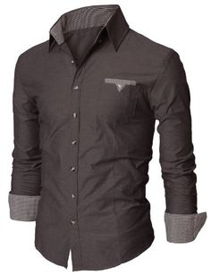 Doublju Mens Dress Shirt with Contrast Neck Band CHARCOAL (US-S) Doublju,http://www.amazon.com/dp/B004E08ATA/ref=cm_sw_r_pi_dp_Ldghtb0VN38AYVAT