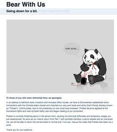 Grooveshark's clever 404 error message.  -------------  Wil je minder 404's? of gewoon een betere website? Neem dan eens vrijblijvend contact op met Budeco http://budeco.nl/contact