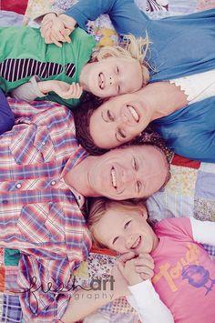cool colourful in family photo idea