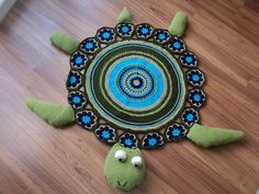 Ravelry: Sea Turtle Rug pattern by Sonea Delvon  he is so cute i want him in my room!