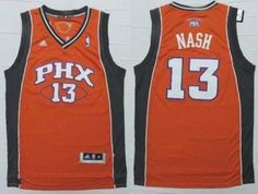 d0ab444e3 Phoenix Suns  13 Steve Nash Orange Stitched NBA Jersey