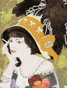 "Georges de Feure ""La Fumeuse"" (1) 1910 by Art & Vintage, via Flickr"