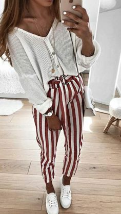 Simple Summer to Spring Outfits to Try in 2019 – Prettyinso Look Fashion, Trendy Fashion, Autumn Fashion, Womens Fashion, Fashion Trends, Mode Outfits, Trendy Outfits, Fashion Outfits, Elegantes Outfit Frau
