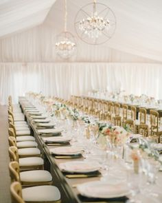 Rustic furniture, natural lighting, and dazzling floral arrangements created an elegant atmosphere for this garden-party wedding in San Francisco.