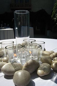 Who would have thought that rocks on the table would be so beautiful?