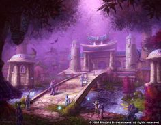 Darnassus, home of the Night Elves in Warcraft