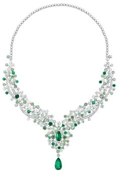 """Gorgeous emerald and diamond Necklace from Piaget's High Jewelry """"Sunny Side of Life"""" collection"""