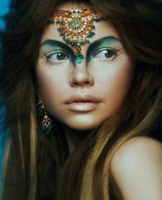 Fantasy Eyes Make-up Makeup Inspo, Makeup Inspiration, Beauty Makeup, Eye Makeup, Makeup Ideas, Exotic Makeup, Witch Makeup, Make Up Looks, Cara Tribal
