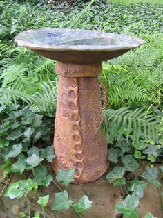 Ceramic #Birdbath with Lynn Armstrong at the Dallas Arboretum