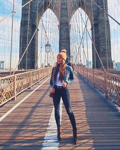 So much fun checking out the Brooklyn Bridge a few days ago! Definitely had that one on my bucket list for awhile ❤️ http://liketk.it/2tPi7 #liketkit