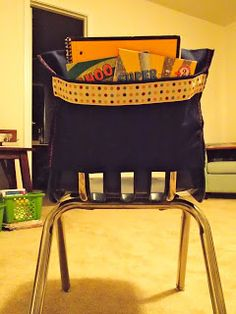 Operation: Chair Pockets!  DIY with instructions and pictures