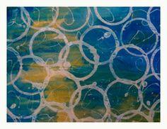 mixed-media fabric art soy wax batik