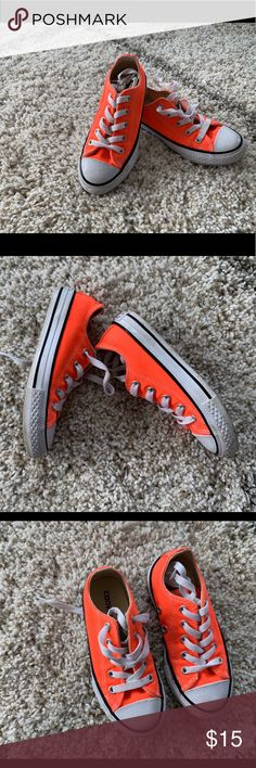 266b2145b90b Orange Converse Sneakers Bright orange converse sneakers-kids size 10 Worn  once Converse Shoes Sneakers
