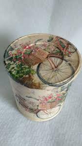 Resultado de imagem para latas decoradas
