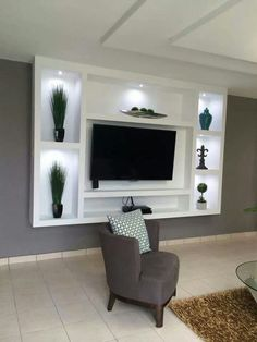 Beautiful living room design with television 23 Condo Living Room, Living Room Remodel, Living Room Decor, Living Room Tv Unit Designs, Tv Unit Furniture, Modern Tv Wall Units, Bedroom False Ceiling Design, Tv Wall Decor, Tv Wall Design