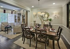 A spacious dining room is a important when hosting a party. (Toll Brothers at Morris Chase, NJ)