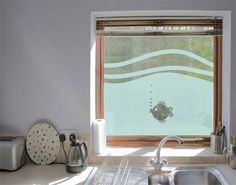 Unique Fensterfolie Sichtschutzfolie Fischchen II Milchglasfolie