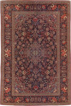 Kashan rug 32489  Width51 inches Length76 inches