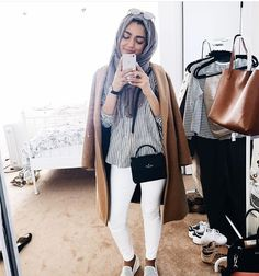 White jeans and hijab