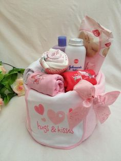1 tier nappy cake made to order by SuchFunNappyCakes on Etsy, £45.00