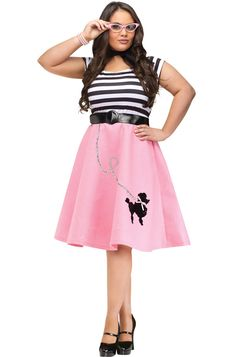 Poodle 50's Dress Plus Size Costume - Pure Costumes