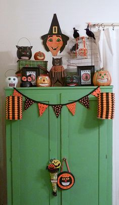 Vintage Halloween Decorations  by MissConduct*, via Flickr