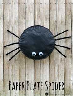 This paper plate spider craft for kids is fun, easy to make, and is a great Halloween decoration for your classroom or home. This paper plate spider craft for kids is fun, easy to make, and is a great Halloween decoration for your classroom or home. Halloween Crafts For Kids, Crafts For Kids To Make, Halloween Activities, Autumn Activities, Fall Crafts, Halloween Fun, Kids Crafts, Zoo Crafts, Alphabet Crafts