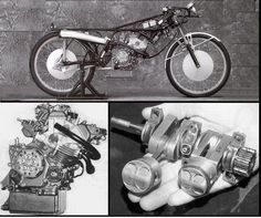 Honda RC115. 50 cc 4 Stroke Deep sump Parallel Twin, 16.5 BHP @ 21,500 RPMRedline at 22,500 RPM  And that is 320 BHP/Liter  Weight 130lb