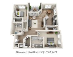 Our two-bedroom apartments - both the Abbington (pictured here) and Highland floorplans - will be available beginning May 27th! If you're apartment hunting in #Raleigh, come see us next week to reserve your space!
