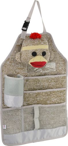Sock Monkey Back Seat Organizer Autozubehör – Baby Ava – – Cars Sock Monkey Baby, Pet Monkey, Sock Monkey Nursery, Sewing For Kids, Baby Sewing, Sewing Ideas, Little Monkeys, Sock Monkeys, Sock Animals