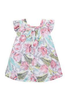 Pippa & Julie Floral Dress & Bloomer Set (Baby Girls)