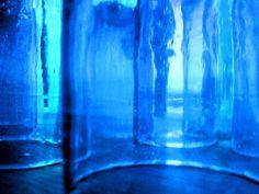 blue glass...looks like mine
