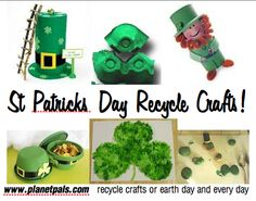St Patricks Day Recycle Crafts for Kids or Decorations #moms #teachertuesday
