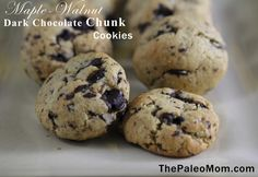 Maple-Walnut Dark Chocolate Chunk Cookie  by @Sarah Chintomby Ballantyne