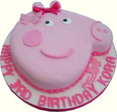Peppa Pig Birthday Cake cakepins.com