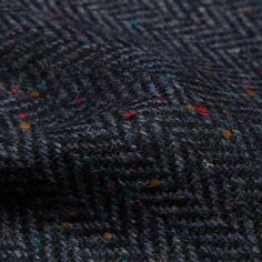 Charcoal Wool Donegal Tweed..the real McCoy!