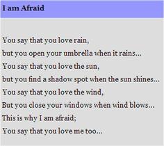 I am Afraid by William Shakespeare