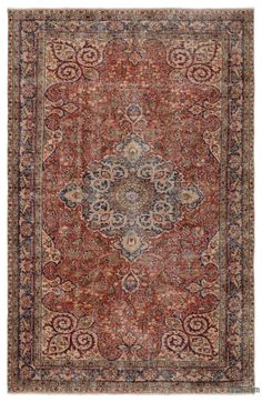 """For a contemporary look with a vintage appeal, we source rugs in excellent condition and carefully trim the piles to achieve an eye-catching """"distressed"""" look. Woven with wool on cotton, this fine rug measures 5'5'' x 8'5'' (165 cm x 256 cm). In addition to being unique and hand-made, these rugs make a very special statement about bridging generations of artisanal skill and knowledge over time with a charming look that complements any modern or bohemian décor. Check out our article Get The…"""
