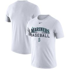 Men's Seattle Mariners Nike White Practice Performance T-Shirt